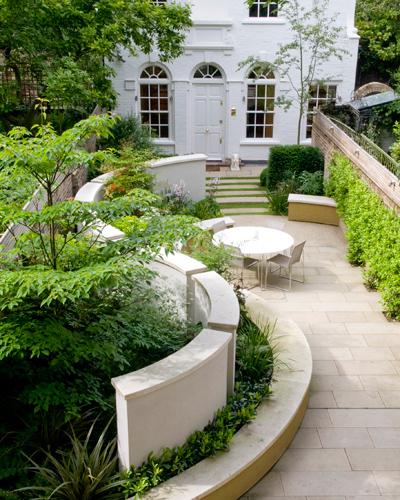 een tuin geïnspireerd op Johannes Vermeer in Londen.