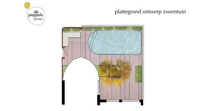 Een stadstuin met zwembad op 70 m2 in amsterdam for Ontwerp plattegrond