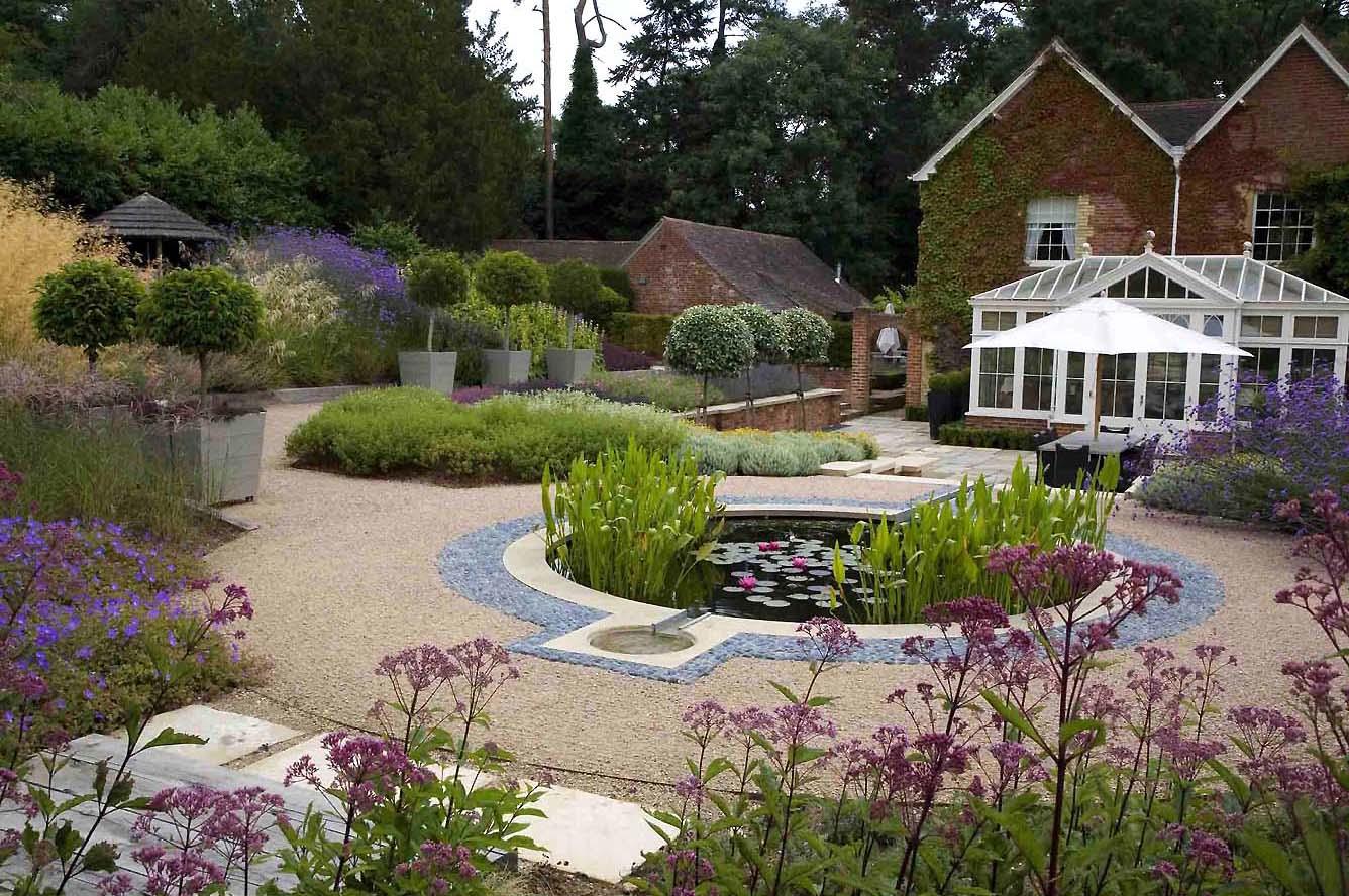 De Blauwe Coldharbour Garden Ontworpen Door Anthony Paul