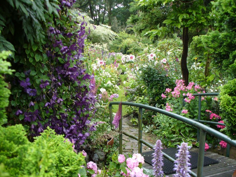 Bridges and many paths bring you to other parts of the garden.