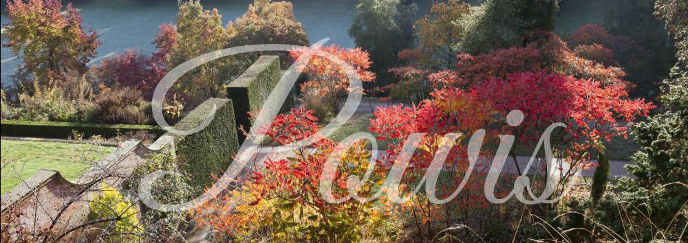 De klassieke schoonheid van Powis Castle and Gardens in Wales