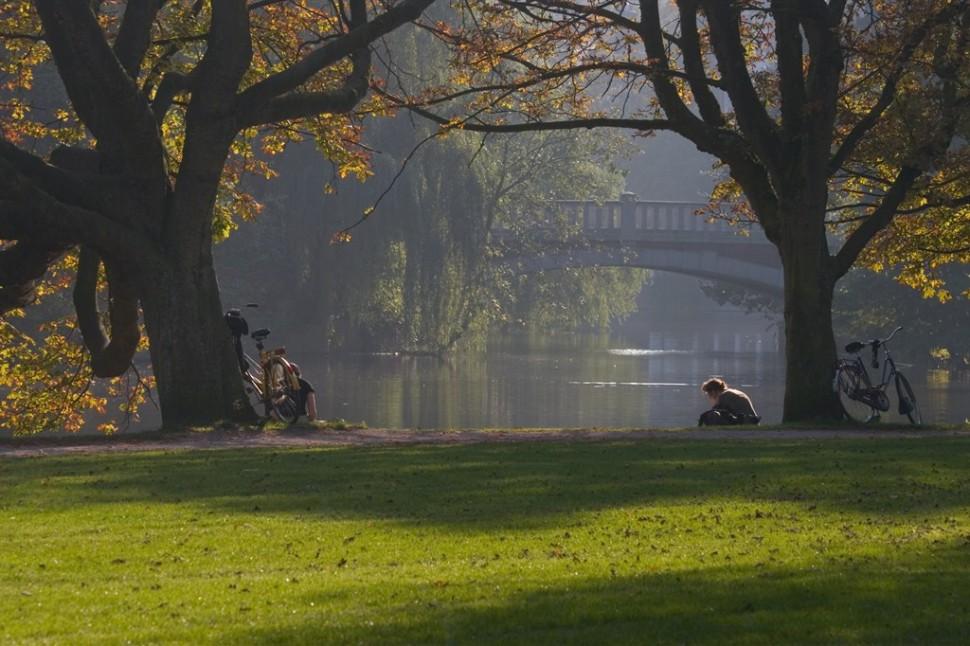 Relaxen in het Vondelpark