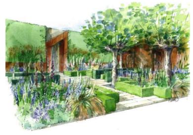 Morgan Stanley Healthy Cities Garden door Chris Beardshaw