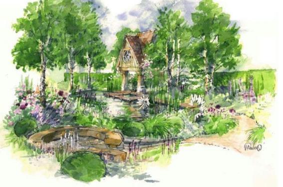 The MG Retreat Garden door Jo Thompson