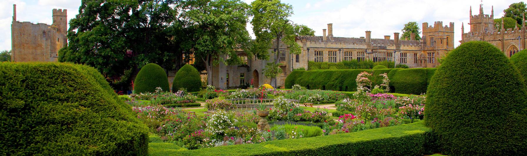 De tuinen van Sudeley Castle in de Engelse Cotswolds