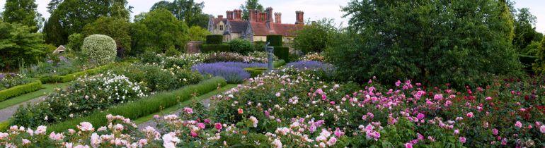 The Rose Garden and fountain at Bordehill