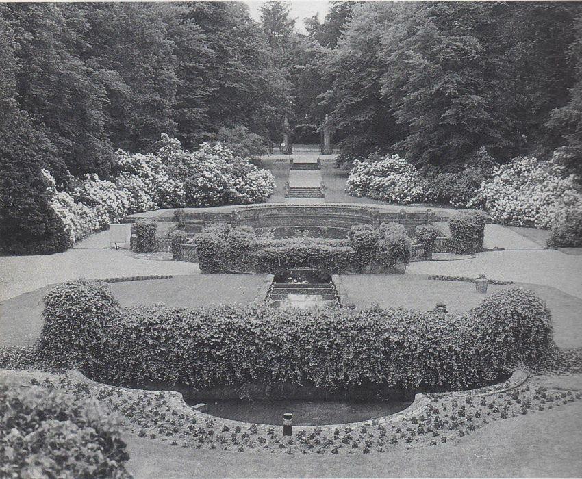 Tuin Hooge Vuursche Baarn 1910 Foto: NTs