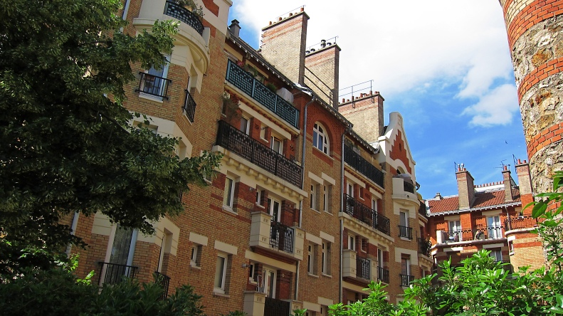 Uitzicht op de prachtige architectuur van dit gedeelte van Parijs.