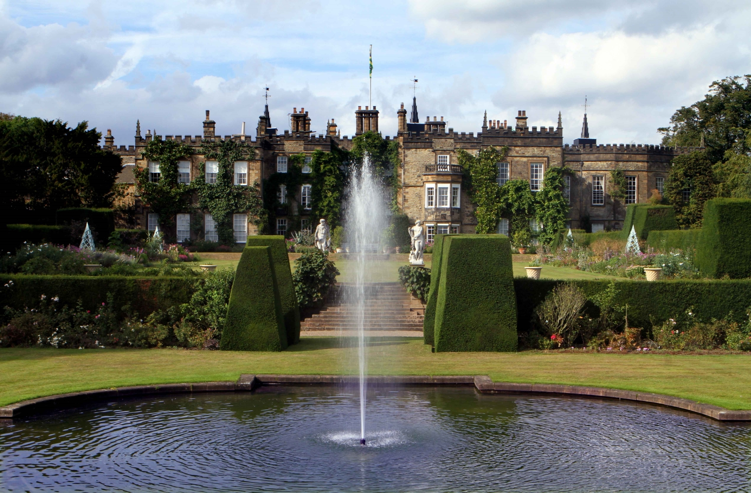 Renishaw Hall and Gardens, een Britse tuin in Italiaanse sfeer