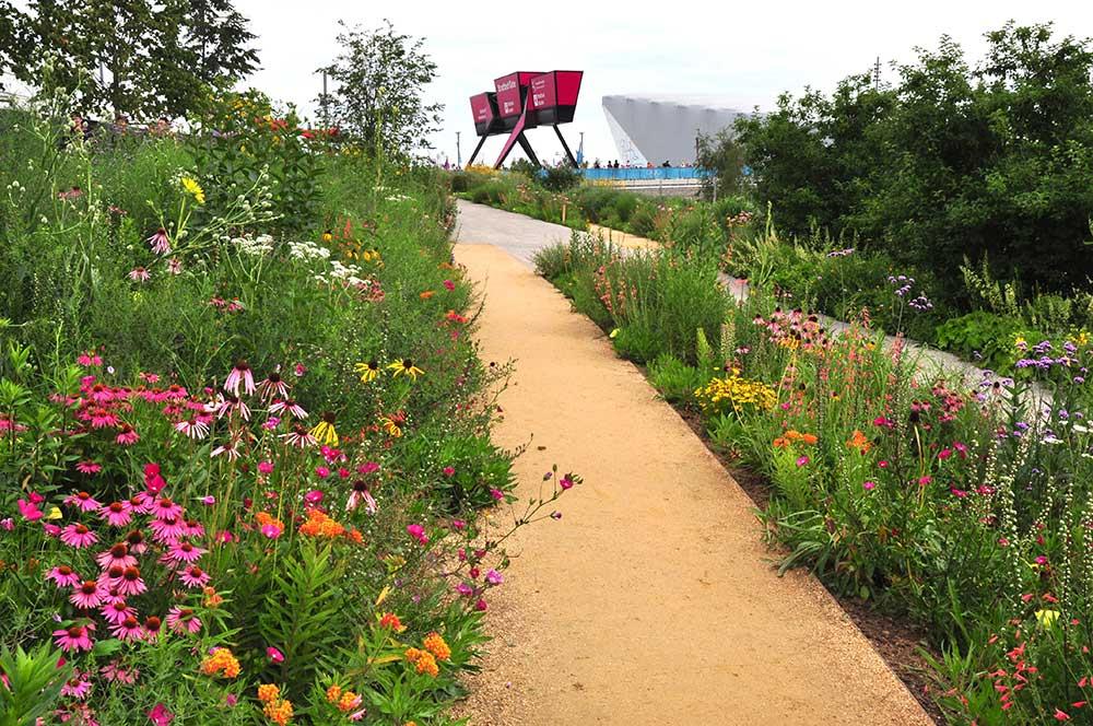 Naturalistische beplanting  Olympisch Park, Londen