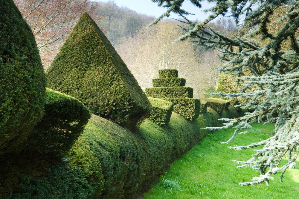 De tuinen van Little Malvern Court in de Malvern Hills