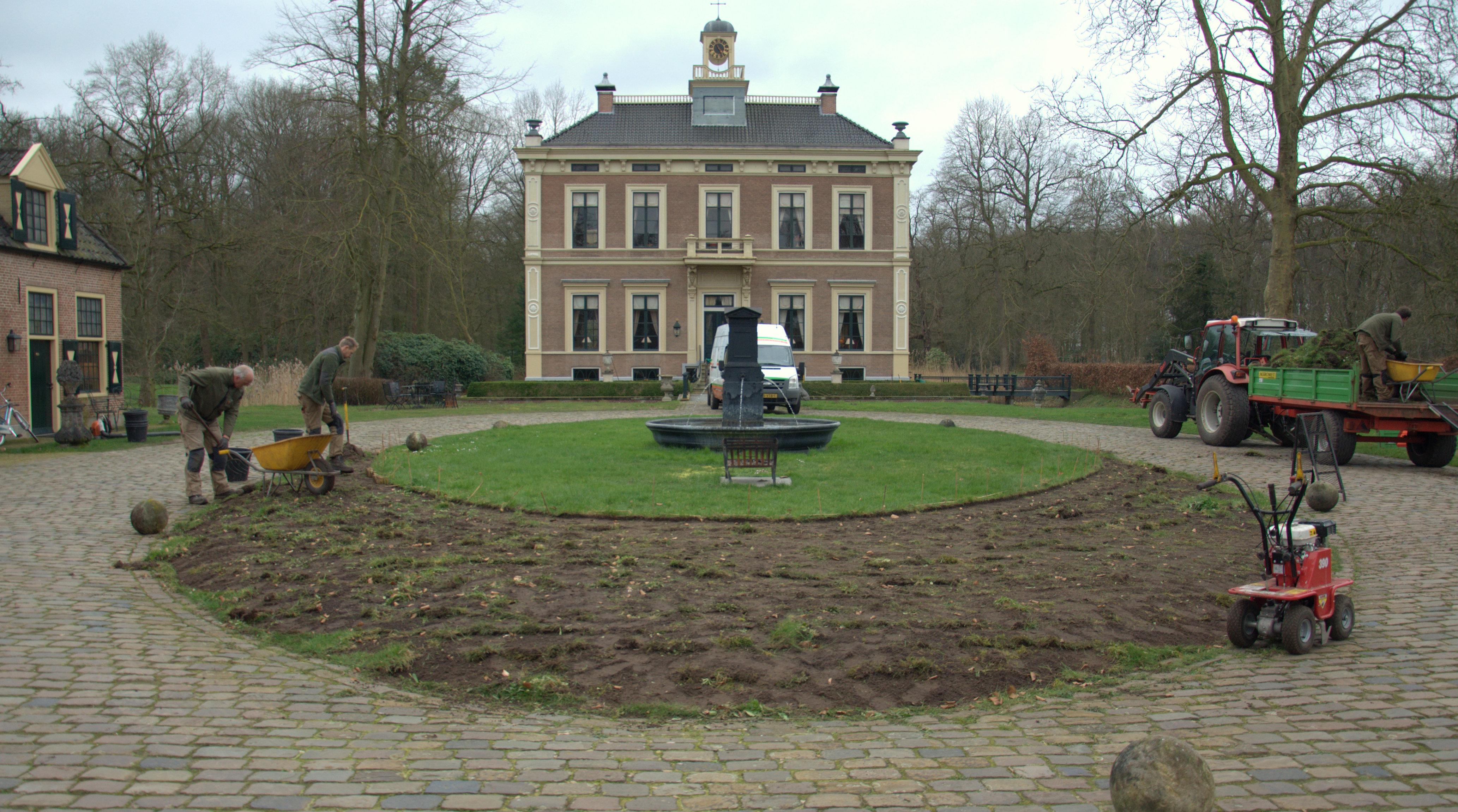 Gardenista 2021, voorbereiding borders havezate Den Alerdinck (2020) Deel 1